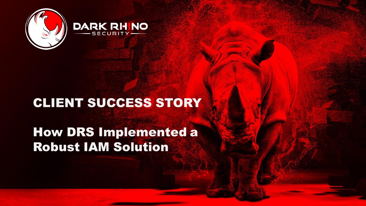 Client Success Story: How DRS Implemented a Robust IAM Solution on Complex Legacy Systems with Minimal Operational Downtime on rhinoceros background